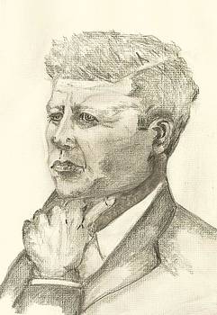 John F Kennedy by Deborah Gorga