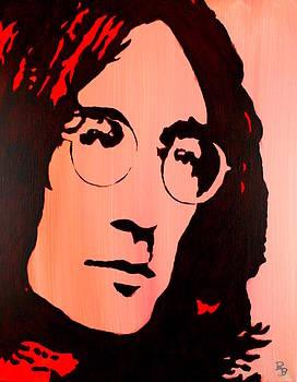 John Lennon Beatles Pop Art by Bob Baker