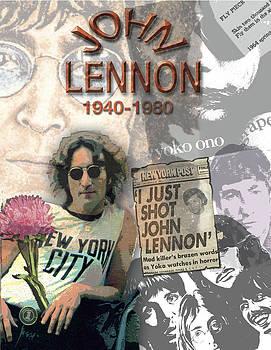 John Lennon Memorial Collage by Melinda Saminski