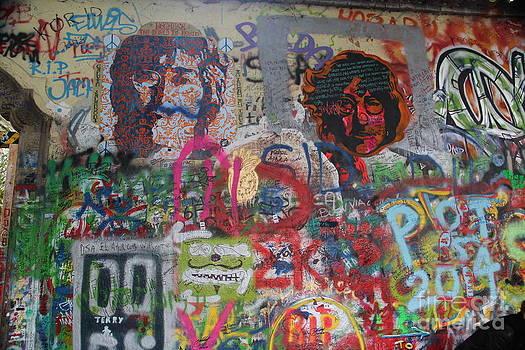 John Lennon Wall #2 by Dennis Curry