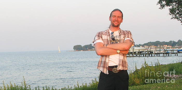John Morris overlooking the water by John Morris
