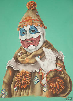 John Wayne Gacy as Pogo the Clown by Brent Andrew Doty