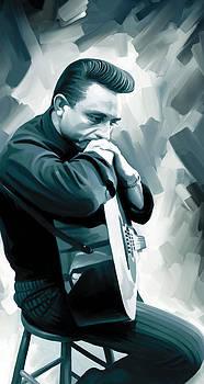 Johnny Cash Artwork 3 by Sheraz A