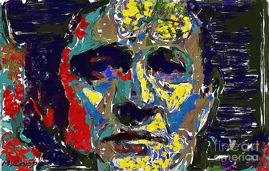 Johnny Cash Oil Abstract by Max Cooper
