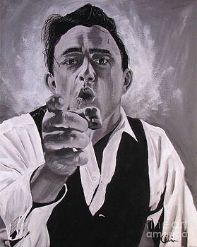 Johnny Cash Portrait by M Oliveira
