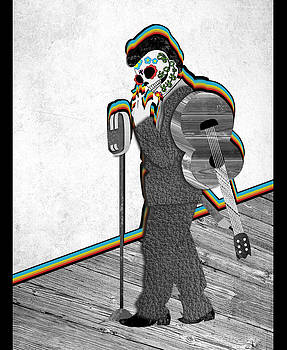 Johnny Cash Sugar Skull by Catherine Black