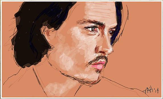 Johnny Depp sketch by Peggy Hickey