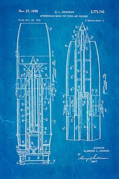 Ian Monk - Johnson Jet Afterburner Patent Art 1956 2 Blueprint