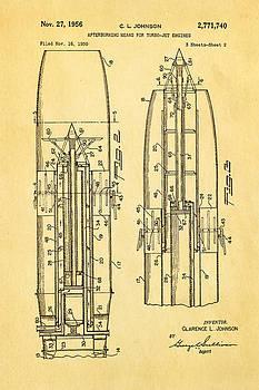 Ian Monk - Johnson Jet Afterburner Patent Art 1956 2