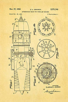 Ian Monk - Johnson Jet Afterburner Patent Art 1956