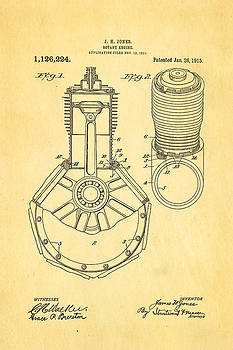 Ian Monk - Jones Hendee Mfg Co Rotary Engine Patent Art 1915