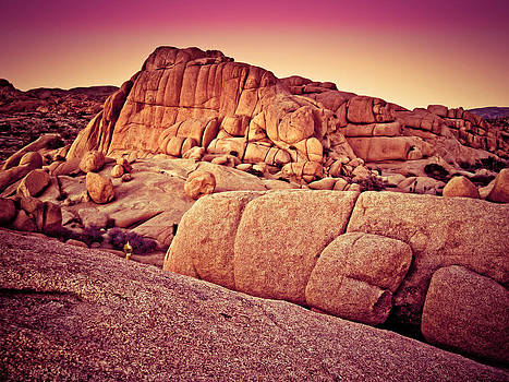 Joshua Tree Rocks at Sunset by Bill Boehm