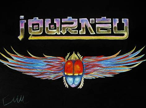Journey band logo by Emily Maynard
