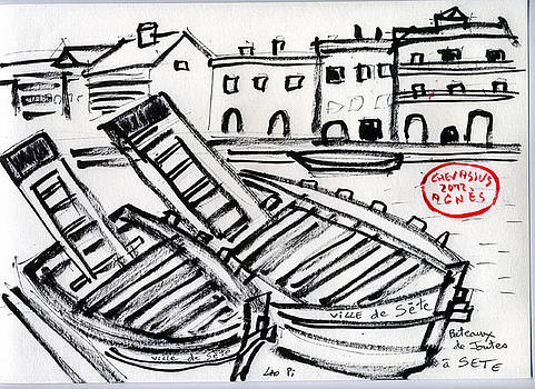Joutes Boats At Sete Port France by Chevassus-agnes Jean-pierre