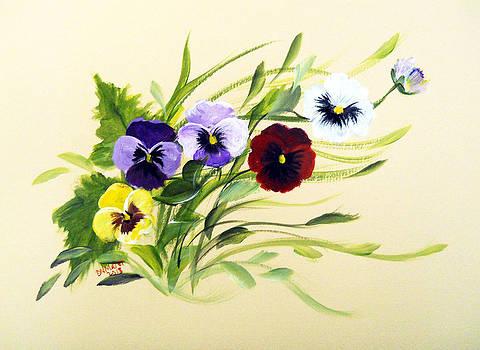 Joy of Pansies Field by Dorothy Maier
