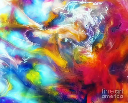 Justyna Jaszke JBJart - Joy watercolor abstraction painting