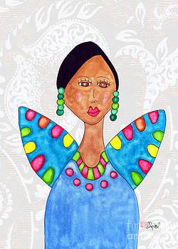 Juanita in a Blue Dress 2 by Emily Lupita Studio