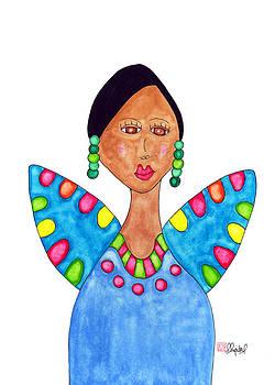 Juanita in a Blue Dress by Emily Lupita Studio