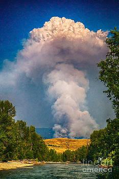 Omaste Witkowski - July 17th 2014 Carlton Complex Plume Wildfire Art by Omaste Witkowski