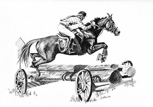 Jumping 3 day Event Horse by Barbara Lightner