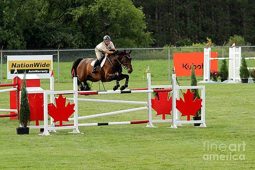 Janice Byer - Jumping Canadian Fence