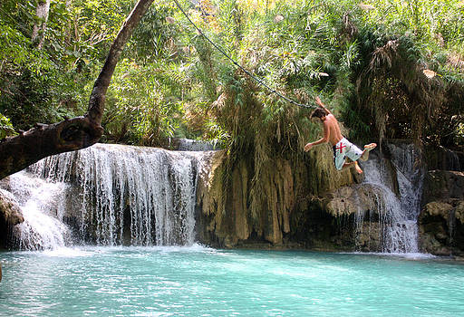Venetia Featherstone-Witty - Jumping the Falls at Erawan