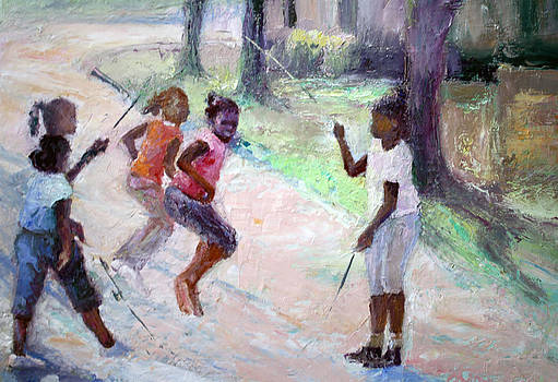 Jumping The Rope  by Benjamin Johnson