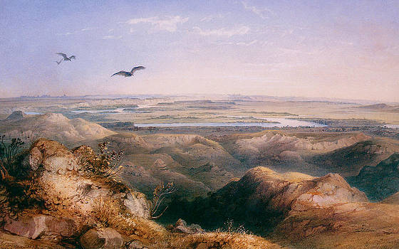 Karl Bodmer - Junction of the Yellowstone and the issouri