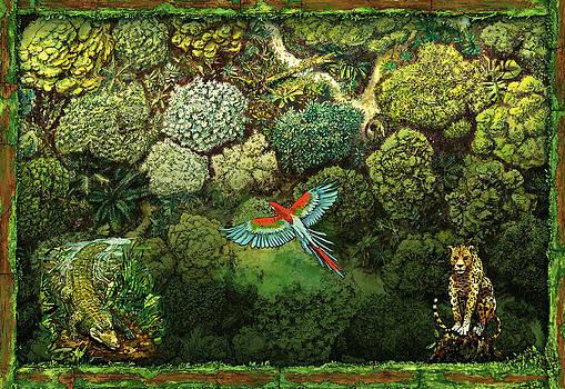 Jungle animals framed by Odysseas Stamoglou