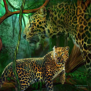Jungle Spirit - Leopard by Carol Cavalaris