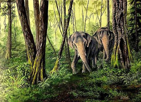 Jungle Stroll by Greg Neubert