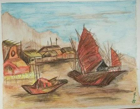 Junk Boats of Siam by Iris Devadason