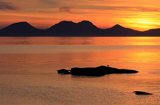 Jura Sunset by Grant Glendinning