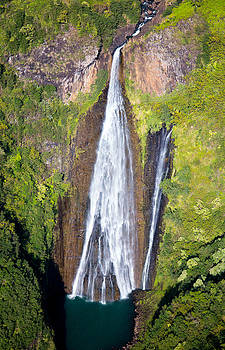 Jurassic Falls Aerial Kauai by Sam Amato