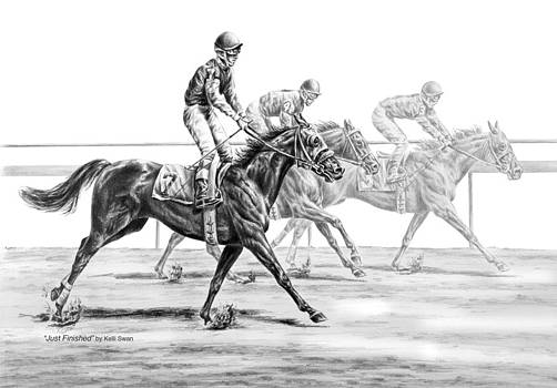 Kelli Swan - Just Finished - Horse Racing Print