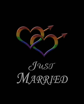 Just Married Gay Pride by Tavia Starfire