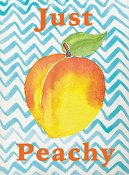 Just Peachy Painting by Christy Beckwith