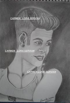 Justin Bieber by Mary Carmen Lora Servian