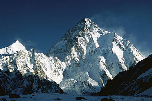 Colin Monteath - K2 At Dawn 8611 Meters Seen From Camp
