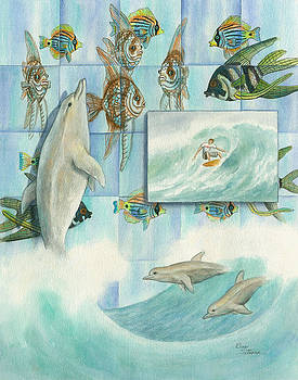 Kaleidoscope Dolphin Dance by Elinor Sethman