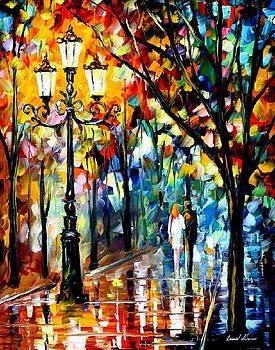 Kaleidoscope Of Love - PALETTE KNIFE Oil Painting On Canvas By Leonid Afremov by Leonid Afremov