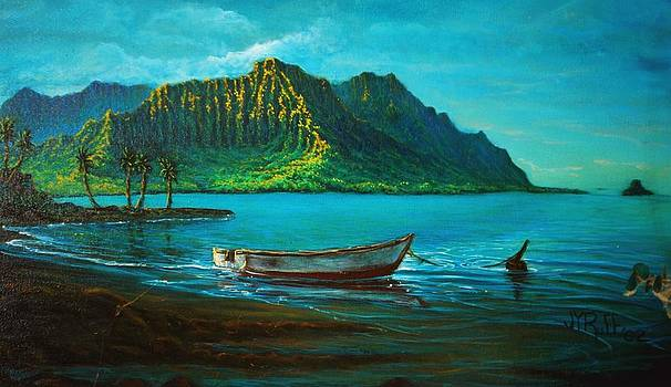Kaneohe Bay Early Morn 1 by Joseph   Ruff