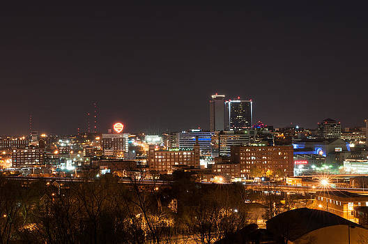 Kansas City at night by Clay Swatzell
