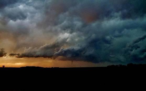 Kansas Tornado at Sunset by Ed Sweeney