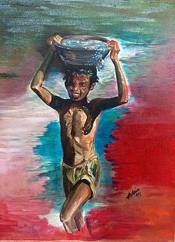 Kerala boy by Adair Robinson