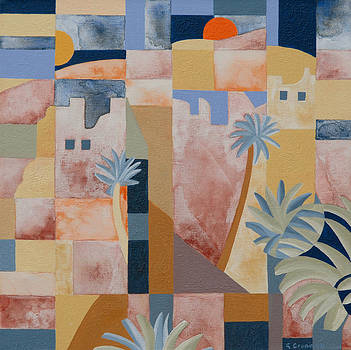 Kasbah and Date Palms  by Gillian Cronin