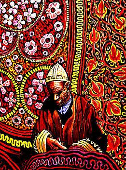 Kashmiri Rug Maker by Bob Crawford