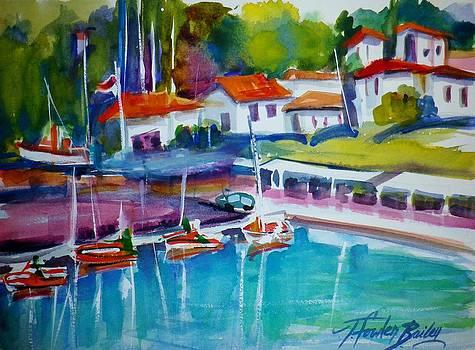 Katakolon Harbor Greece by Therese Fowler-Bailey
