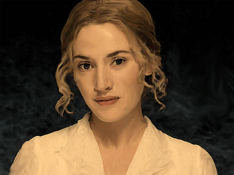 Kate Winslet Painting  by Parvez Sayed