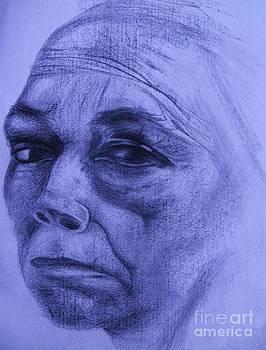 Kathe Kollwitz - Blue Violet Hue by Jacquelyn Roberts
